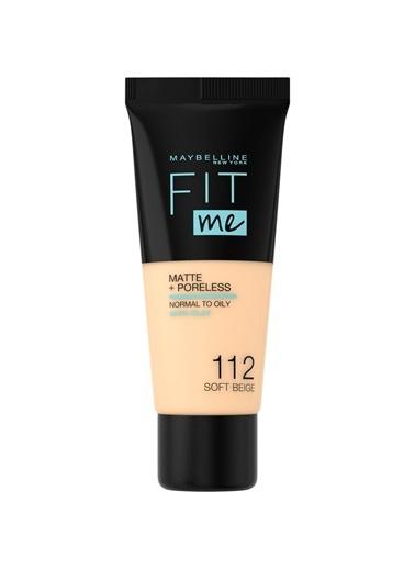 MAYBELLINE NEW YORK Maybelline New York Fit Me Matte+Poreless Fondöten - 112 Soft Beige Renksiz
